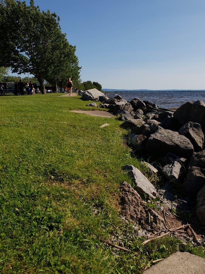 Lago SYLVAN BEACH Oneida fotos de stock royalty free