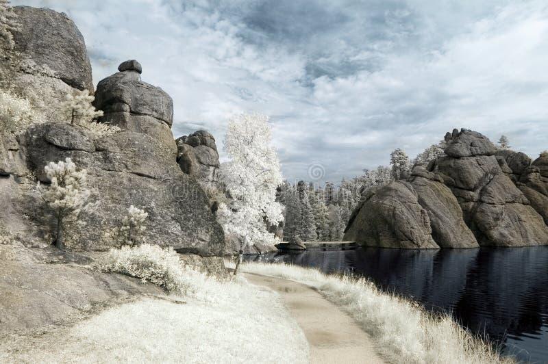 Lago Sylvan no infravermelho imagem de stock royalty free