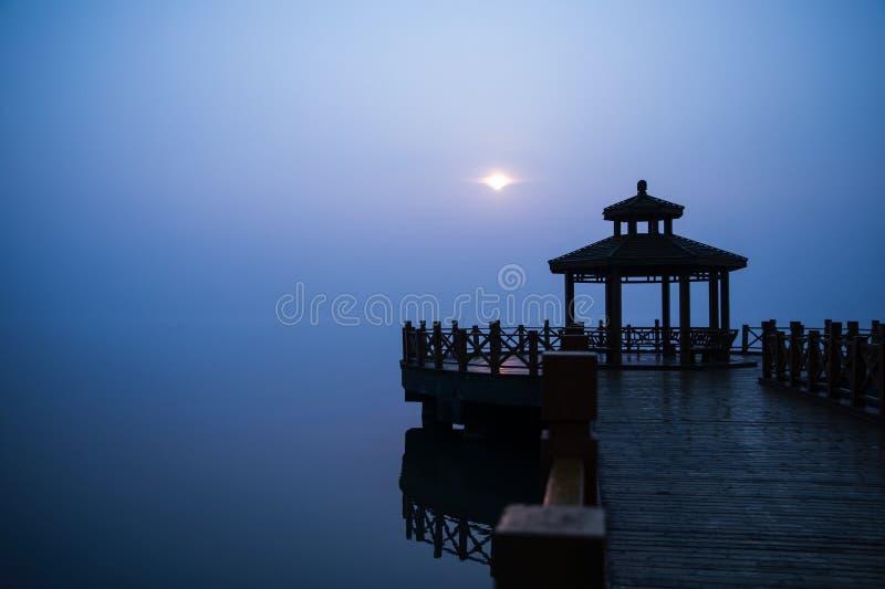 Lago Taihu di mattina fotografia stock libera da diritti