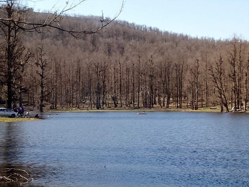 Lago Tamzkida fotografia stock libera da diritti
