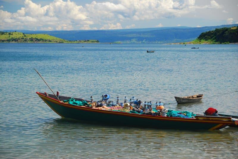 Lago Tanganica fotografia stock libera da diritti