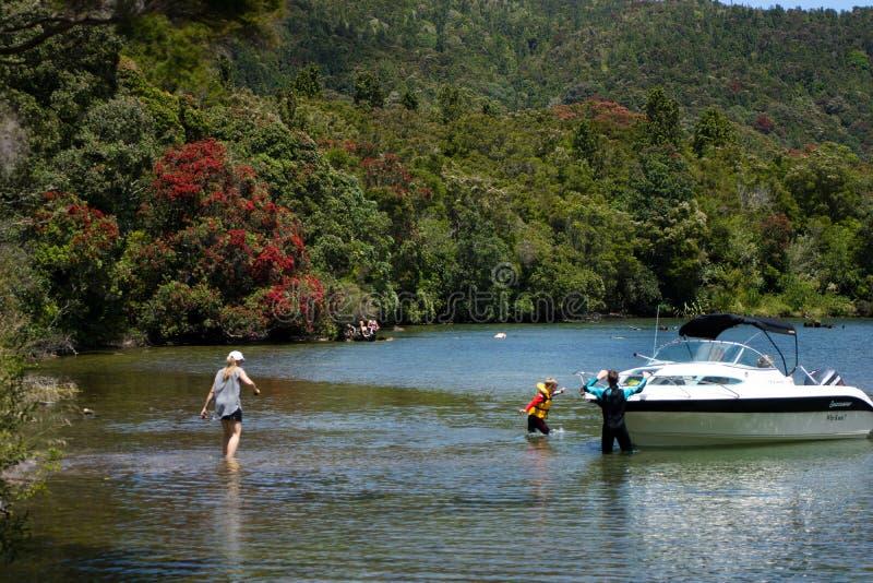 Lago Tarawera, Nueva Zelanda fotografía de archivo