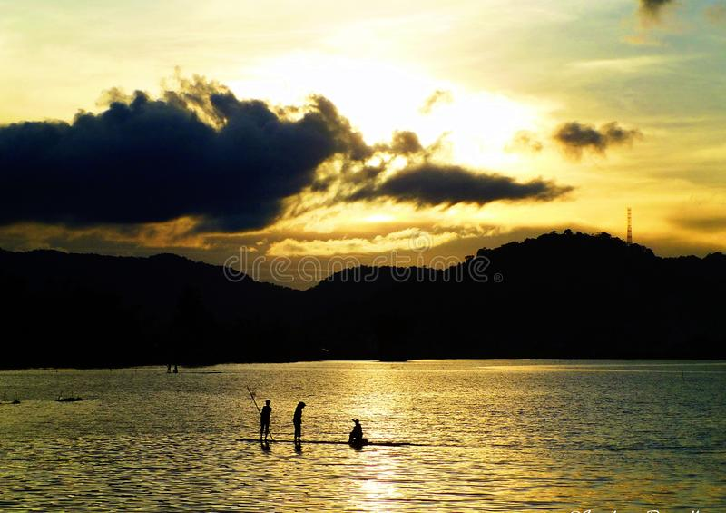 Lago Tarusan Indonesia fotografia stock