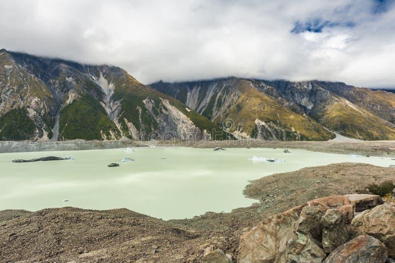 Lago Tasman imagens de stock
