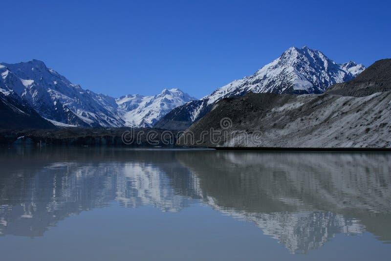 Lago Tasman, Nova Zelândia. fotos de stock royalty free