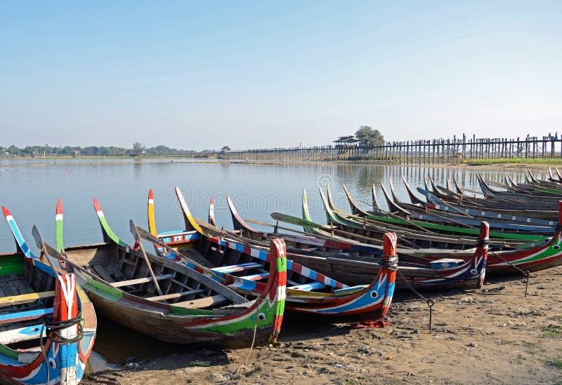 Lago Taungthaman foto de archivo libre de regalías