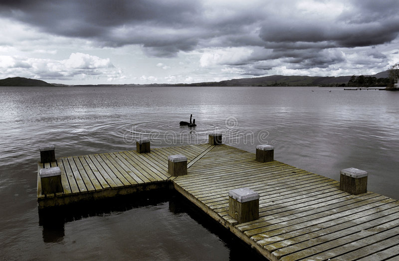 Lago Taupo fotografia stock