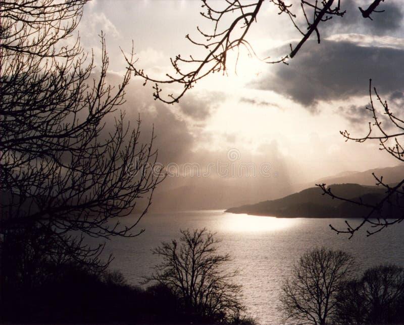 Lago Tay - Escocia imagenes de archivo