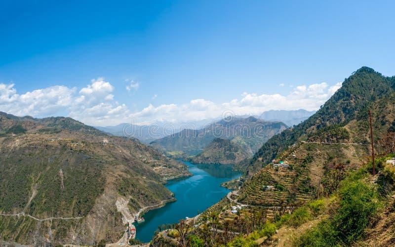 Lago Tehri imagens de stock