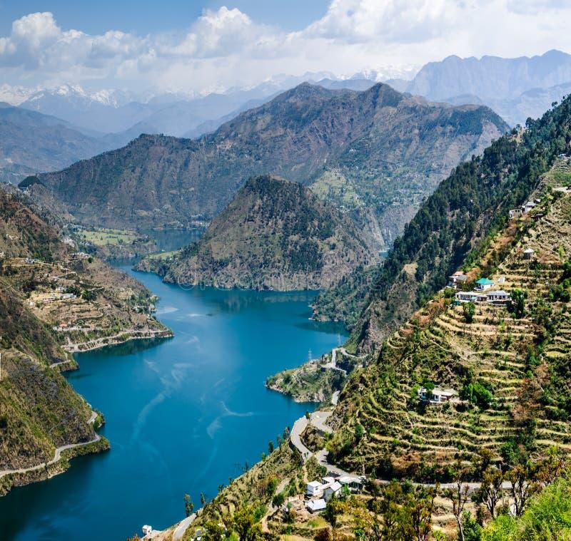 Lago Tehri foto de archivo libre de regalías