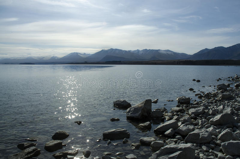 Lago Tekapo Lanscape fotografía de archivo libre de regalías