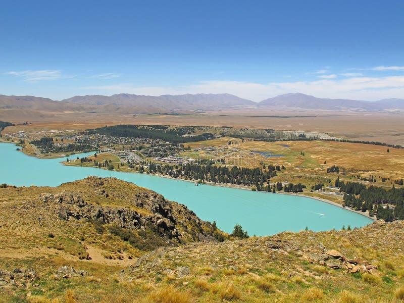 Lago Tekapo, Nueva Zelanda fotografía de archivo