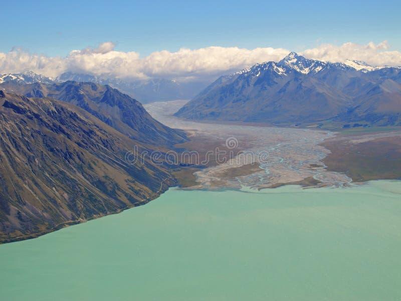 Lago Tekapo, Nueva Zelanda fotos de archivo