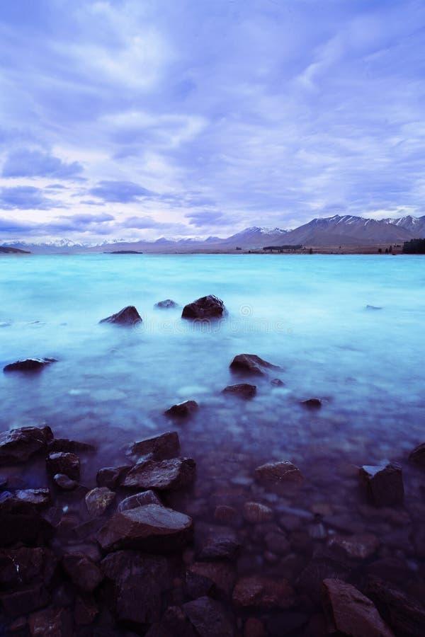 Lago Tekapo Nueva Zelandia foto de archivo