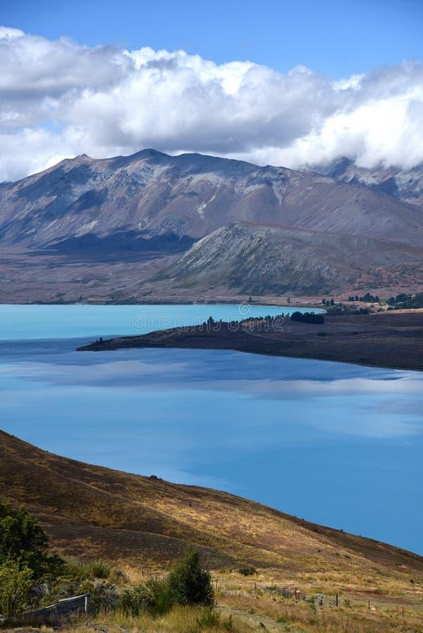 Lago Tekapo, Nueva Zelandia imagenes de archivo