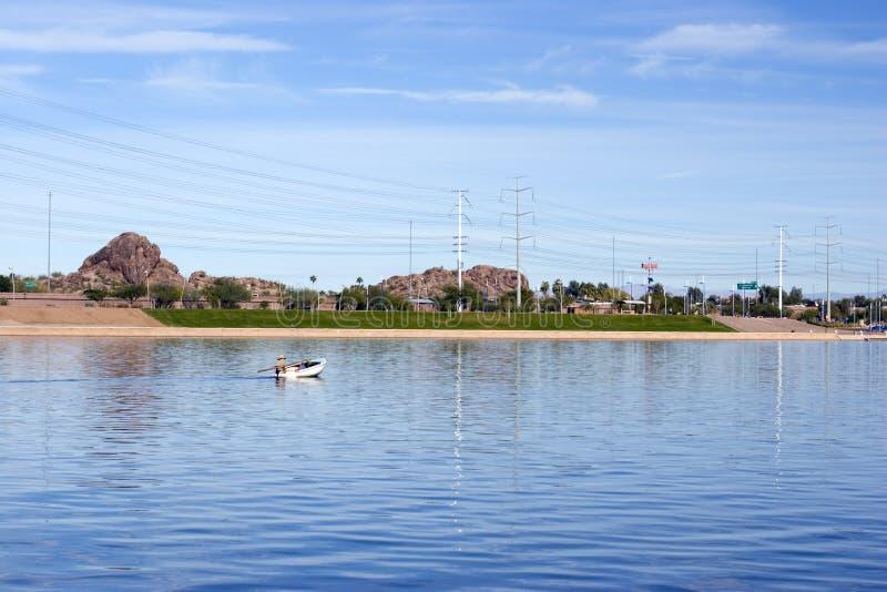 Lago Tempe, o Arizona imagens de stock royalty free