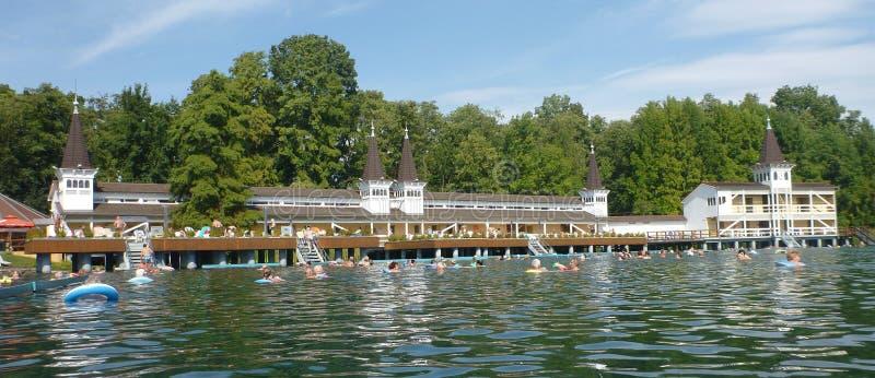 Lago Termal in Heviz in Ungheria immagine stock