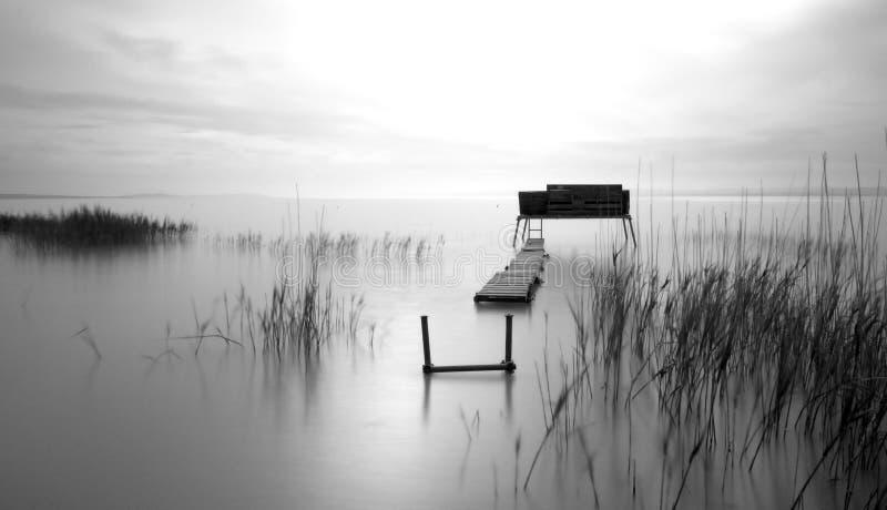 Lago Tha na manhã imagens de stock