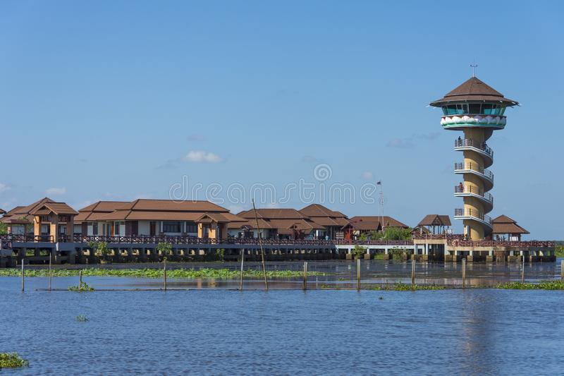 Lago Thale noi en Phatthalung Tailandia fotografía de archivo libre de regalías