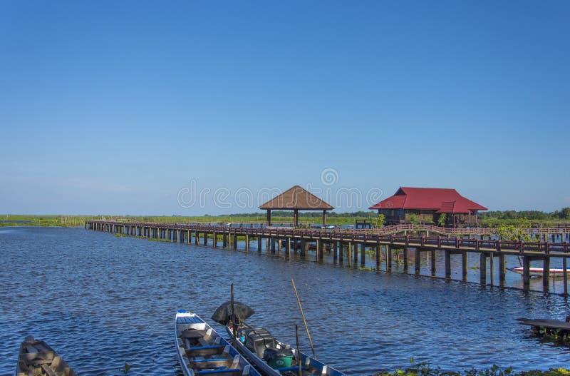 Lago Thale noi en Phatthalung Tailandia imagen de archivo libre de regalías