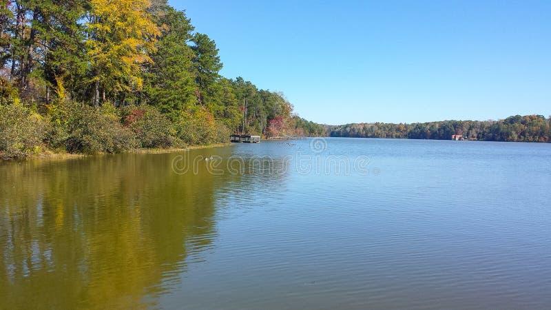 Lago Thom-A-Lex a Lexington e Thomasville, Nord Carolina immagine stock libera da diritti