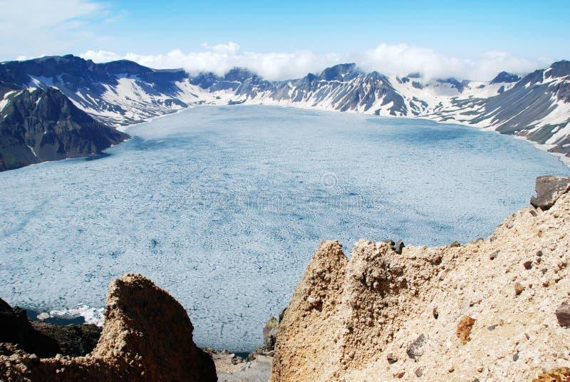 Lago Tianchi (Changbai) immagini stock