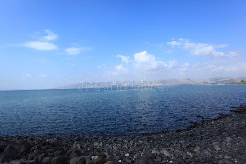Lago Tiberíades o mar de Galilea o de Kinneret fotos de archivo