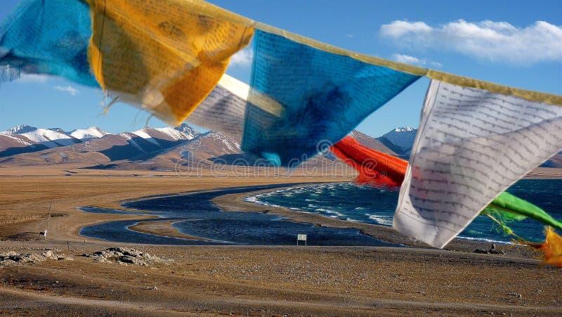 Lago Tibet Namtso. fotografia de stock royalty free