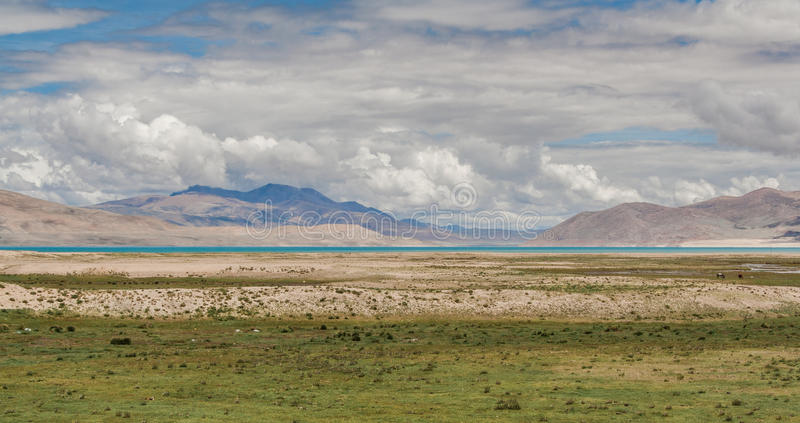 Lago tibetano fotografia stock