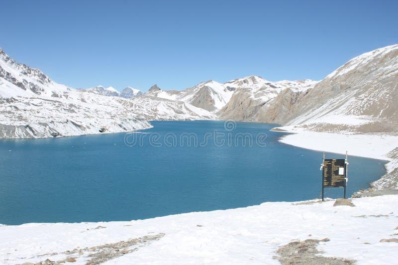 Lago Tilicho fotografie stock