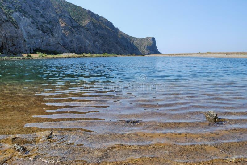 Lago Tindari fotografia de stock