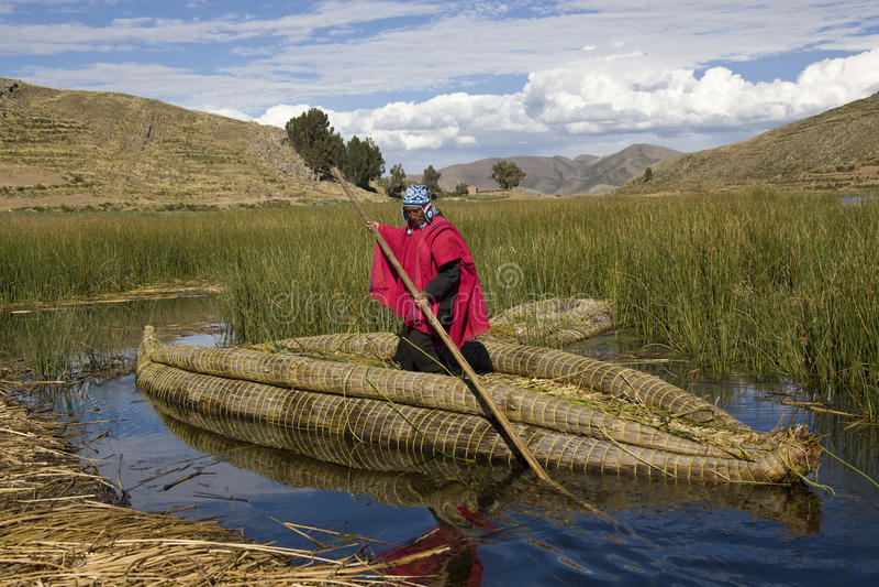 Lago Titicaca - Bolivia foto de archivo