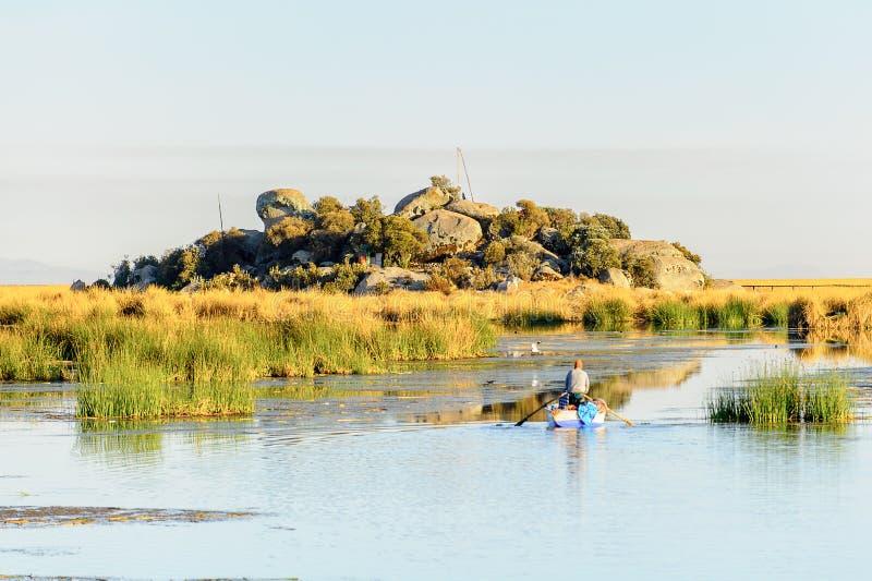 Lago Titicaca, Peru foto de stock royalty free