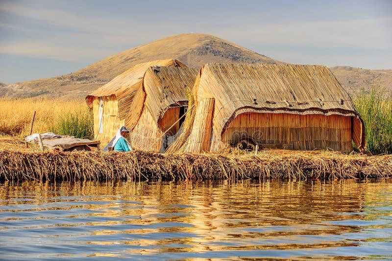 Lago Titicaca, Peru imagens de stock