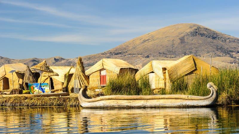 Lago Titikaka, Perú foto de archivo