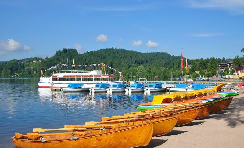 Lago Titisee, floresta preta, Schwarzwald, Alemanha imagens de stock royalty free
