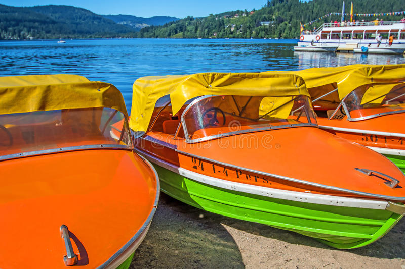 Lago Titisee, Forest Germany preto imagens de stock