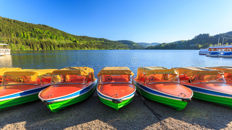 Lago Titisee Neustadt immagine stock libera da diritti
