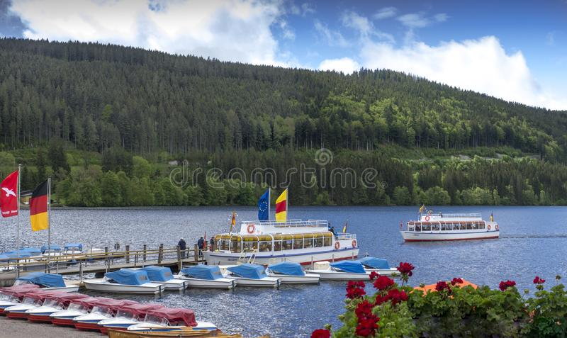 Lago Titisee, Titisee-Neustadt, foresta nera, rttemberg del ¼ di Baden-WÃ immagine stock libera da diritti