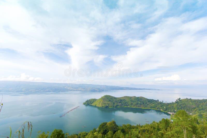 Lago Toba immagine stock