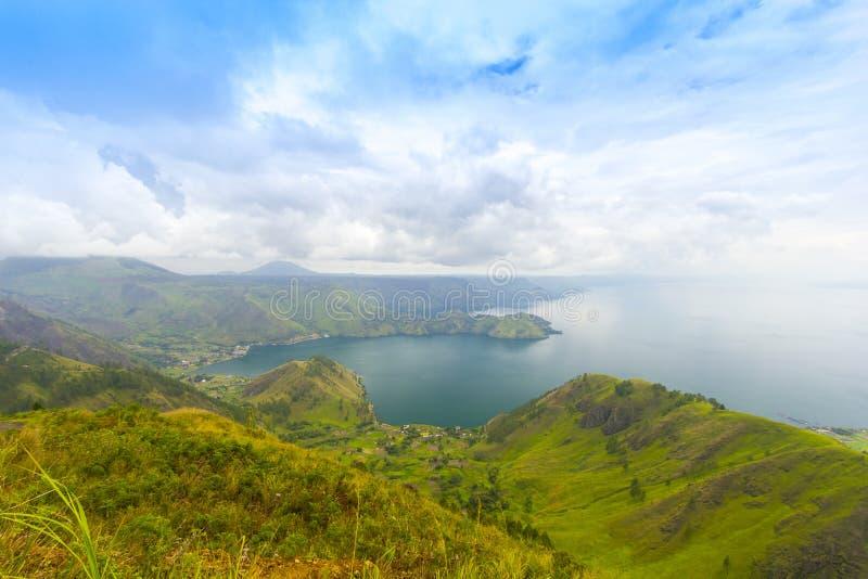 Lago Toba all'Indonesia fotografie stock libere da diritti