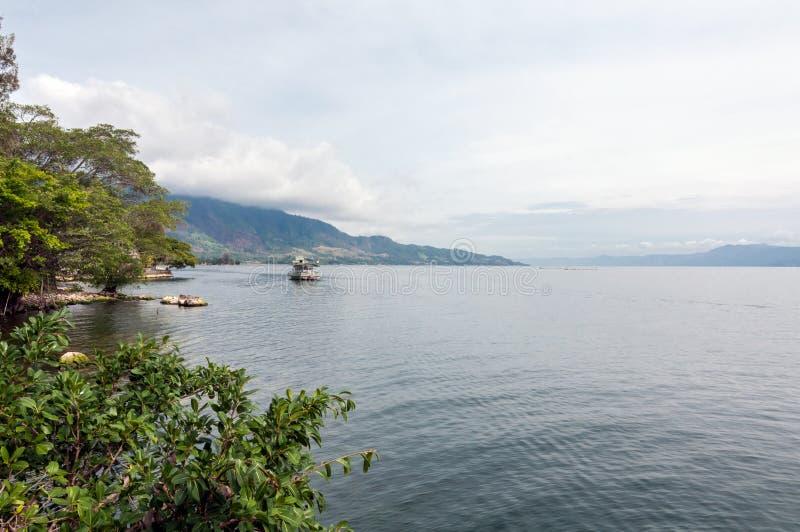 Lago Toba Sumatra norte imagens de stock royalty free