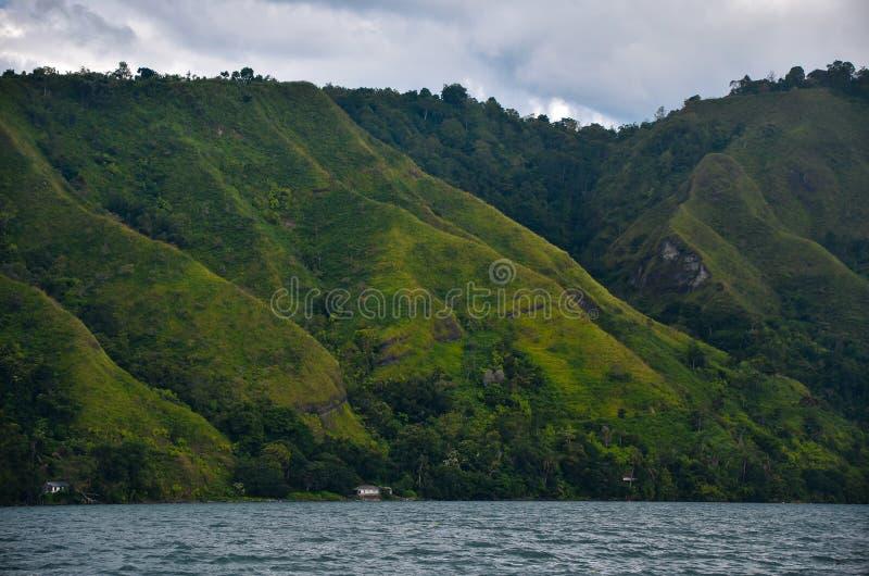 Lago Toba, Sumatra norte, Indonésia imagem de stock