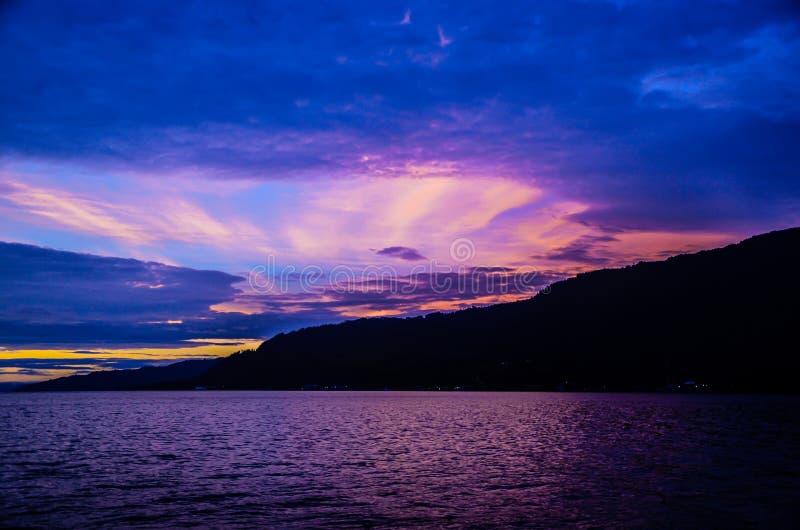 Lago Toba, Sumatra norte, Indonésia imagem de stock royalty free