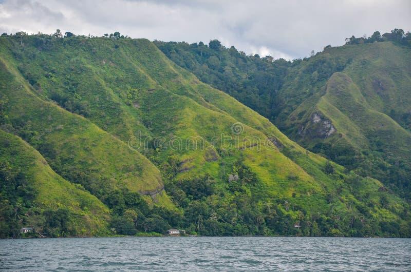 Lago Toba, Sumatra norte, Indonésia fotografia de stock