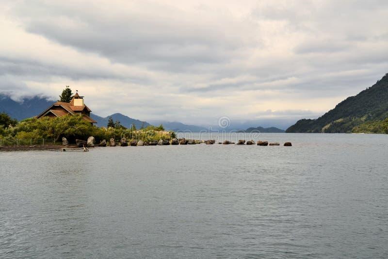Lago Todos Los Santos, Patagonië, Chili stock foto's
