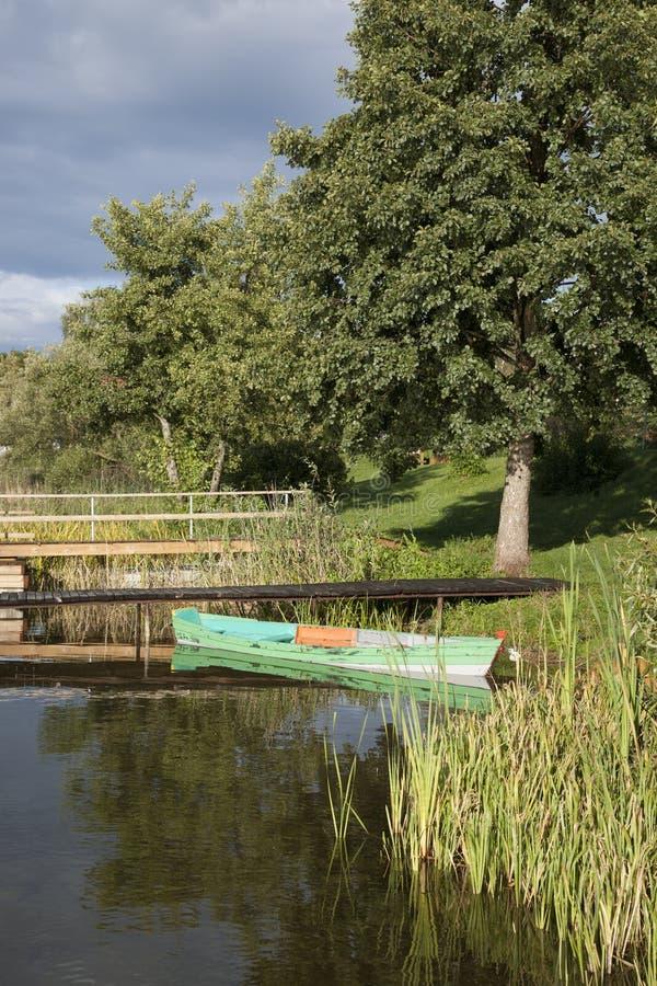 Lago Totoriskiy, Trakai; Vilnius immagine stock