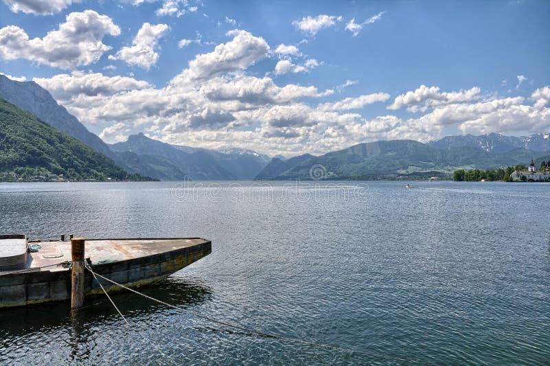 Lago Traunsee - Gmunden, Austria fotografie stock libere da diritti