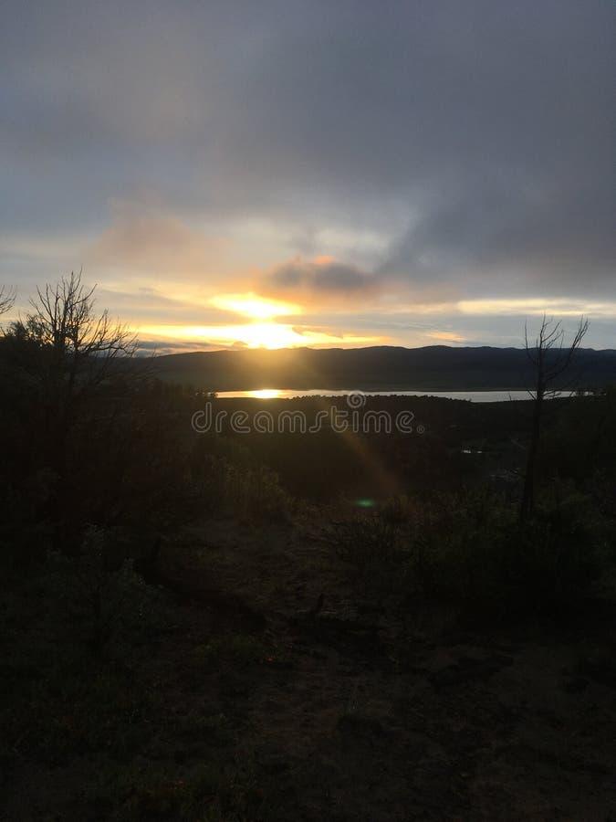 Lago tresandando fotos de stock