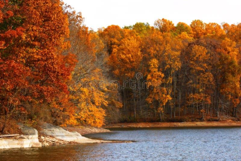 Lago Triadelphia in autunno fotografia stock libera da diritti
